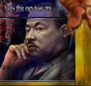 Martin  Luther Paintings - This Cup - The Reality that was King by Reggie Duffie