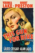 Motion Picture Poster Framed Prints - This Gun for Hire  Framed Print by Movie Poster Prints