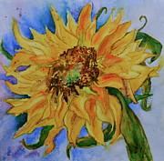 Beverley Harper Tinsley Paintings - This Here Sunflower by Beverley Harper Tinsley
