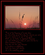 Affirmation Digital Art Posters - This is the Beginning of a New Day Poster by Bill Cannon