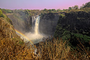 Zimbabwe Metal Prints - This is Zimbabwe No.  1 - Thundering Victoria Falls Metal Print by Paul W Sharpe Aka Wizard of Wonders