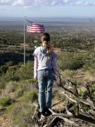 Patriot Photo Originals - THIS LAND IS HER LAND American Girl and Flag by Sindi June Short