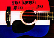 Woody Guthrie Art - This Machine Kicks Ass by Bill Cannon