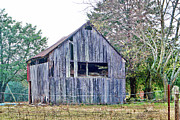 Photo Manipulation Photo Posters - This Old Barn Poster by EricaMaxine  Price