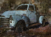 Www.paintedworksbykb.com Posters - This Old Truck Poster by Karen  Burns