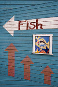 This Way To The Fish Print by Carol Leigh
