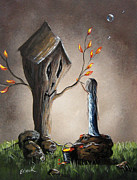 Fantasy Tree Art Painting Posters - This Will Make It Better by Shawna Erback Poster by Shawna Erback