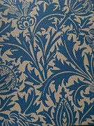 Fabric Art Tapestries - Textiles Prints - Thistle Design Print by William Morris