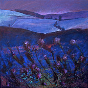 Purple Paintings - Thistle Fryup by Neil McBride