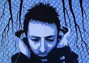 Pop  Paintings - Thom Yorke  by Bobby Zeik