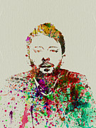 Rock Band Metal Prints - Thom Yorke Metal Print by Irina  March