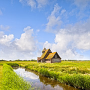 Thomas Framed Prints - Thomas A Becket Church Romney Marsh Framed Print by Colin and Linda McKie