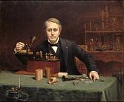 Famous Artists - Thomas Alva Edison by Abraham Archibald Anderson