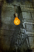 Old Light Prints - Thomas Edison Lightbulb Print by Susan Candelario