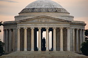 Thomas Jefferson Prints - Thomas Jefferson at Sunset  Print by Jocelyn Stees