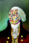 Thomas Jefferson Painting Prints - Thomas Jefferson Print by Gray