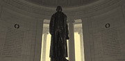 Declaration Of Independence Prints - Thomas Jefferson In Hdr Panoramic Print by Joseph Hedaya