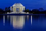 Reflection In Water Prints - Thomas Jefferson Memorial Print by Andrew Pacheco