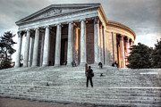 Neo-classical Posters - Thomas Jefferson Memorial in Washington D.C. Poster by J M L Patty