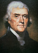 Rembrandt Paintings - Thomas Jefferson by Rembrandt Peale