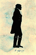 Statesmen Metal Prints - Thomas Jefferson Silhouette 1800 Metal Print by Padre Art