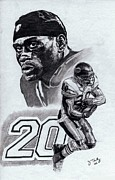 Pro Football Prints - Thomas Jones Print by Jonathan Tooley