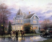 Kinkade Prints - Thomas Kinkade Xmas Christmas Memories Print by Thomas kinkade Collector