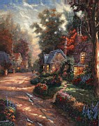 Kinkade Prints - Thomas Print by Thomas kinkade Collector