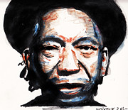 Prisoner Drawings Posters - Thomas Mapfumo Poster by Nancy Mergybrower