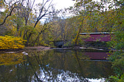 Autumn Art - Thomas Mill Road Covered Bridge in Philadelphia by Bill Cannon