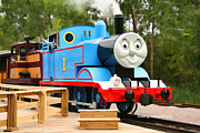 Huckleberry Digital Art Posters - Thomas the Tank Engine VI Poster by Kathy Wesserling