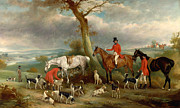Famous Artists - Thomas Wilkinson MFH with the Hurworth Foxhounds by John Ferneley