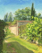 Jardins Paintings - Thomery by David Ormond