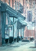 Awnings Posters - Thompson Street Poster by Anthony Butera