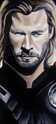 Comics Paintings - Thor by Brian Broadway