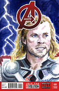 Avengers Painting Originals - Thor by Ken Meyer jr
