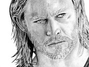 Thor Drawings Acrylic Prints - Thor Odinson Acrylic Print by Kayleigh Semeniuk
