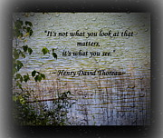 Eva Thomas - Thoreau Quote
