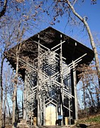 Trees Glass Art - Thorncrown Chapel by Tashia  Summers