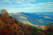 Piedmont Paintings - Thornton Gap Overlook Afternoon by Armand Cabrera