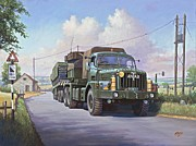 Army Tank Prints - Thornycroft Antar. Print by Mike  Jeffries