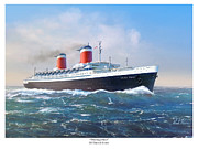 The Titanic Prints - Thoroughbred - SS United States Print by Mark Karvon