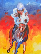 Race Drawings Originals - Thoroughbred Strut by David Keenan