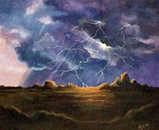 Thor Painting Originals - Thors Fury by Marilyn Smith