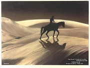 Bible Drawings Metal Prints - Though I Ride Through The Valley Metal Print by Anastasia  Ealy