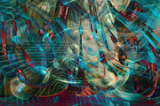 Visionary Art Digital Art Prints - Thoughts In Motion Print by Linda Sannuti