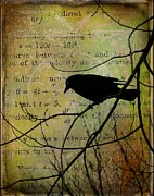 Bird Collage Prints - Thoughts Of Crow Print by Gothicolors And Crows