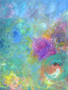 Expressionism Tapestries - Textiles Prints - Thoughts of Heaven Print by Jason Stephen