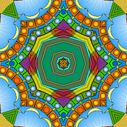 Kaleidoscope Digital Art - Thoughts of Spring Delights by Mario Carini