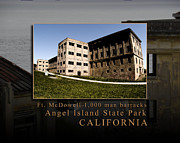 Nike Photo Framed Prints - Thousand Man Barracks at Angel Island State Park California Framed Print by David Rigg